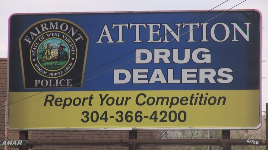 Fairmont Police Use Billboards To Encourage Reporting of Drug Dealers