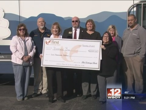 First Exchange Bank donates to Bonnie's Bus