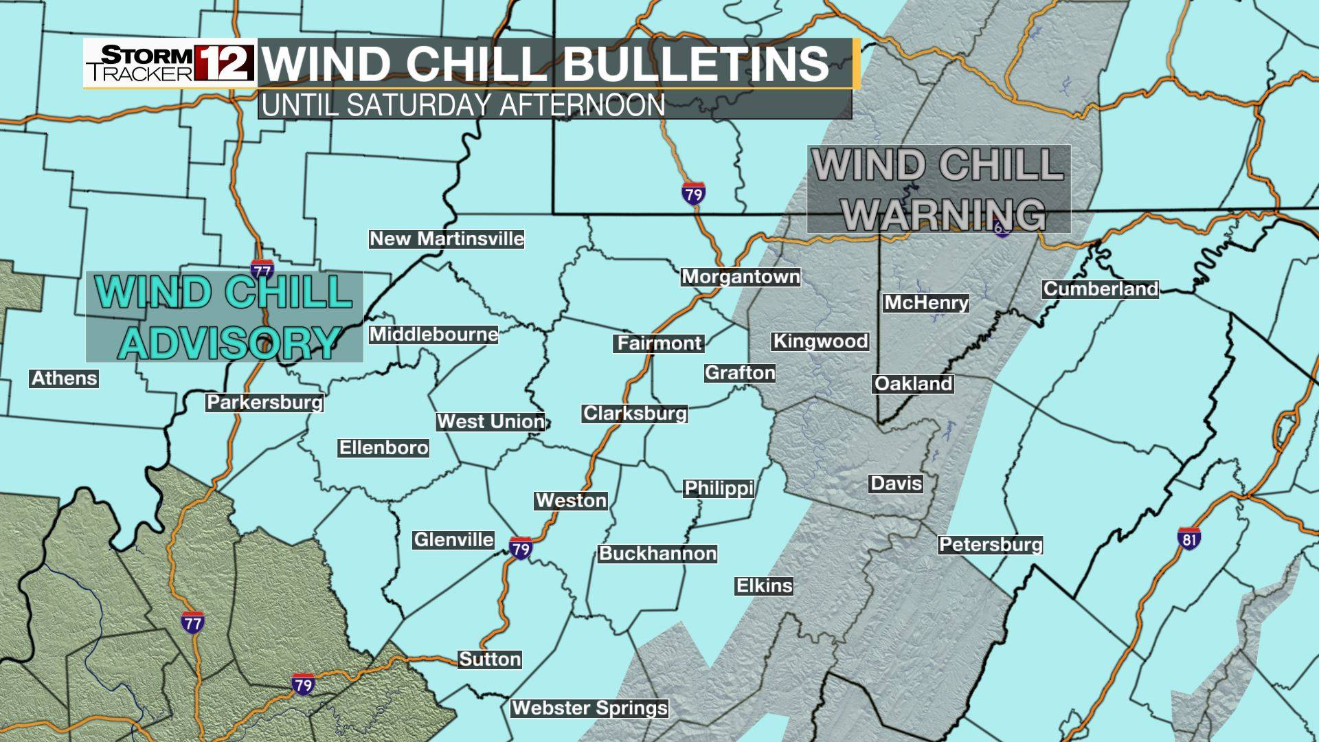 Wind Chill Bulletins are Issued by local NWS offices