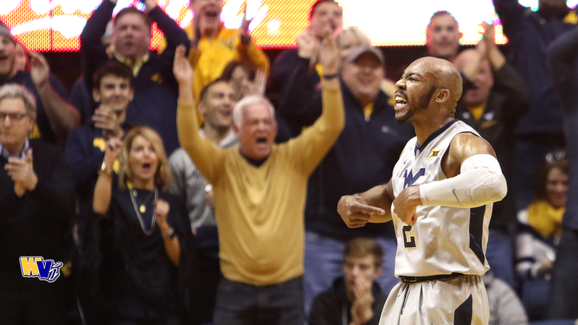 Jevon Carter reacts after scoring a three-pointer during WVU's win over Oklahoma-794306114.
