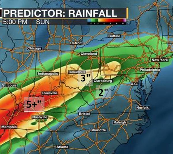 Predictor 5-day regional rainfall