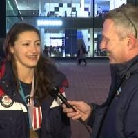 Jack talks with Olympic gold medalist Megan Heller of Team USA Hockey_1519345658576.jpg-54729046.jpg