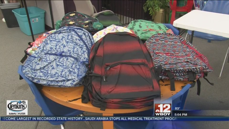 Clarksburg-Harrison Public Library and Unicare Health plan host backpack give-away for kids