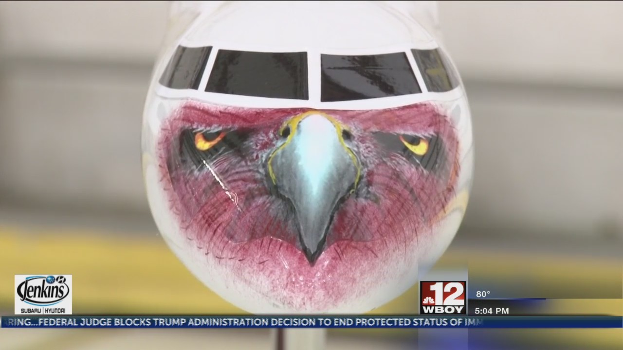 Fairmont State University receives custom model plane