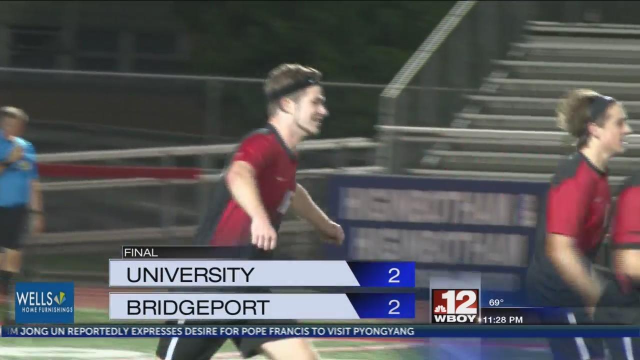 University and Bridgeport boys play to 2-2 draw