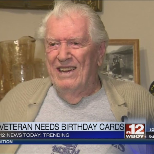 A veteran turning 96 years old asks for birthday cards
