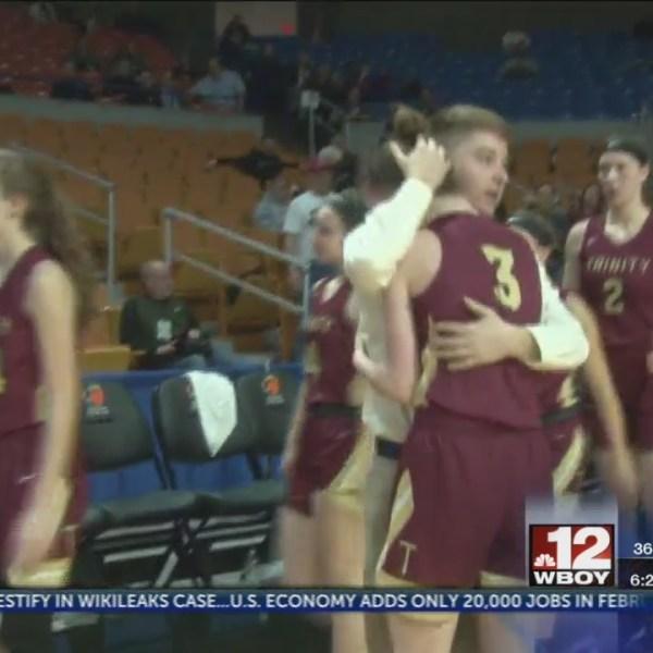 Trinity's seniors play final game vs. Parkersburg Catholic