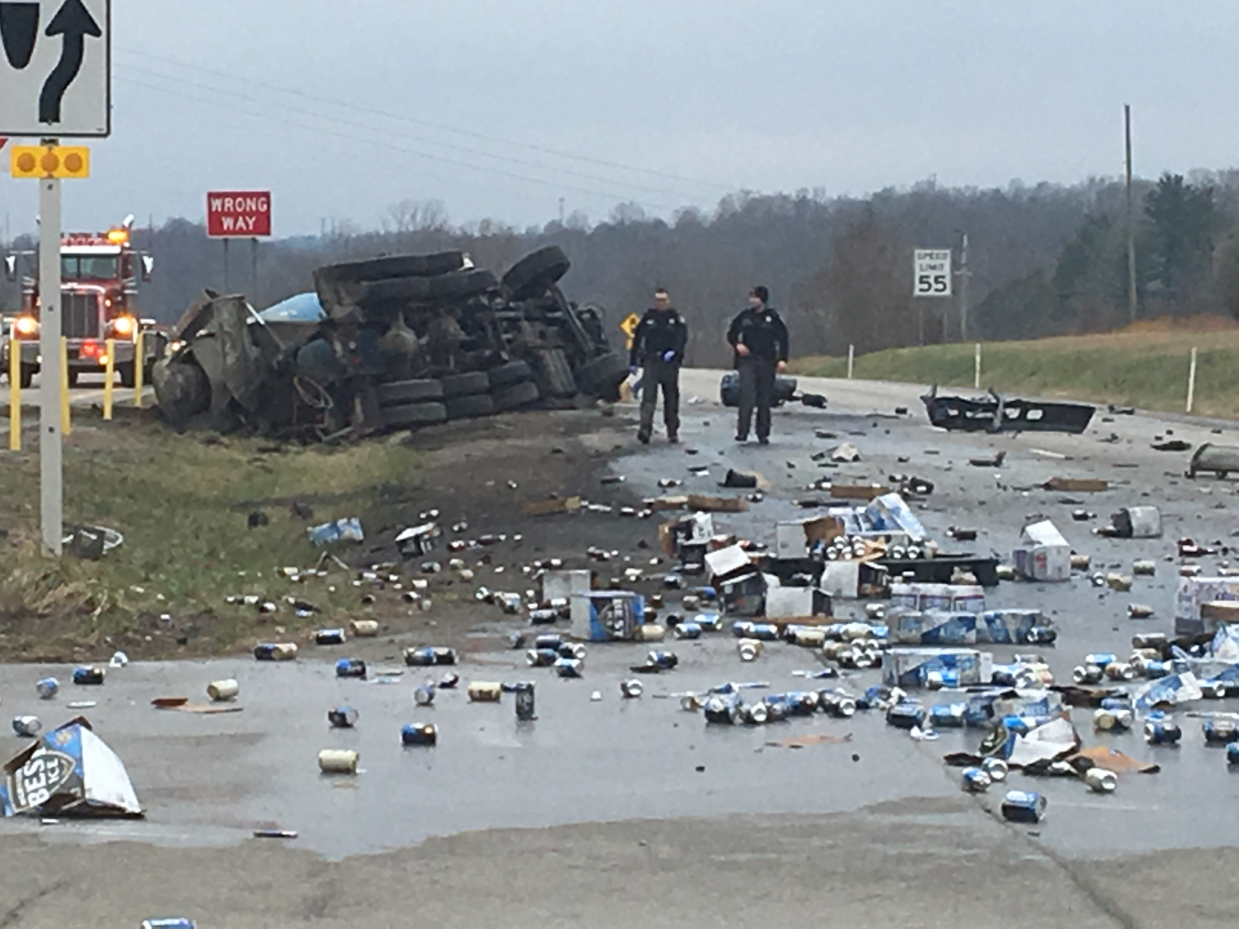 UPDATE: 2 people transported following accident with beer