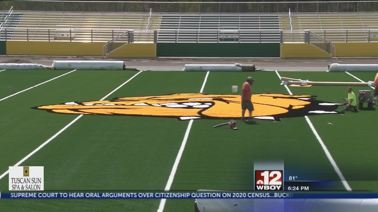 Doddridge County's new Cline Stansberry Stadium nearing its completion