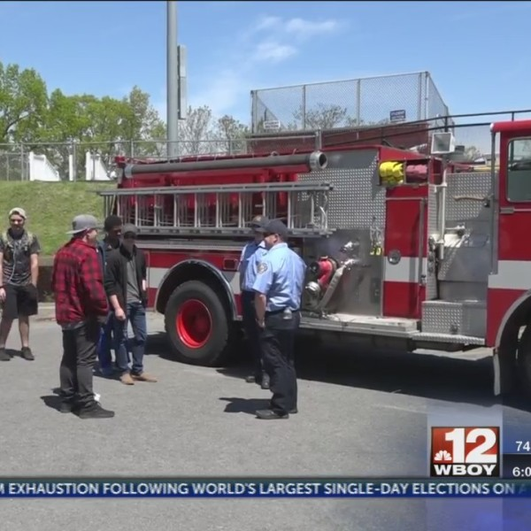 Morgantown Fire Department teaches local high school students fire safety