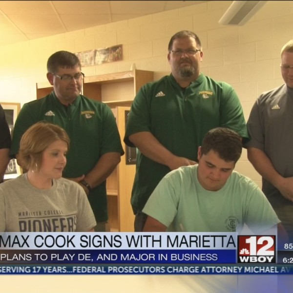 Max Cook signs to play football at Marietta