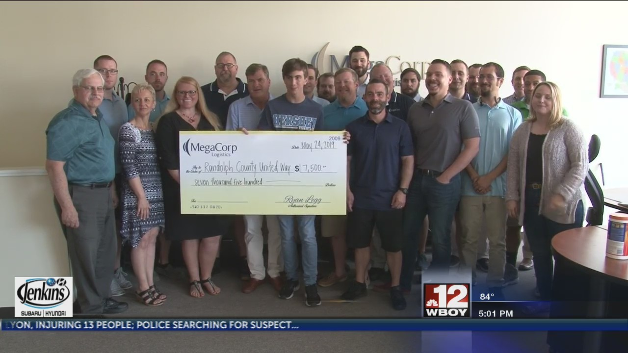 Megacorp Logistics makes donation towards United Way of Randolph County