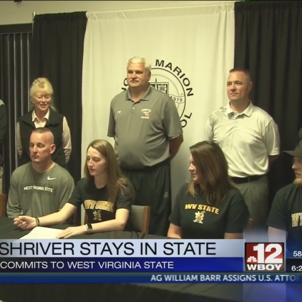North Marion's Hannah Shriver signs with WV State