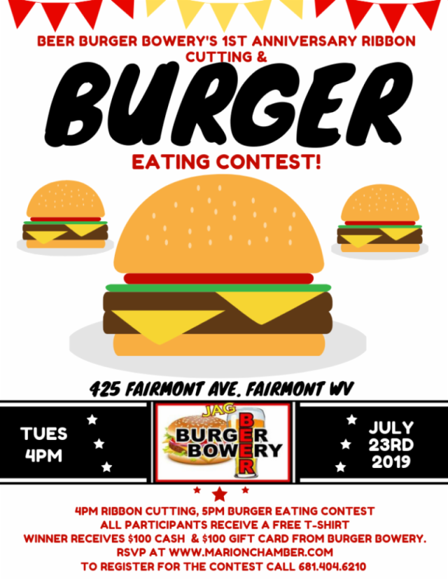 Beer Burger Bowery To Host 1st Anniversary And Burger Eating Contest Wboy Com