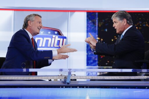 Sean Hannity, Bill de Blasio