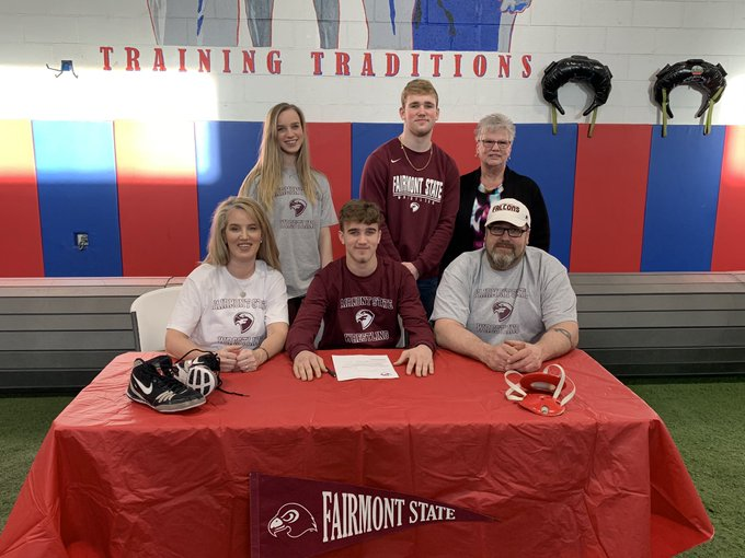 The Falcons Family Aidan Gibson Joins Siblings At Fairmont State Wboy Com