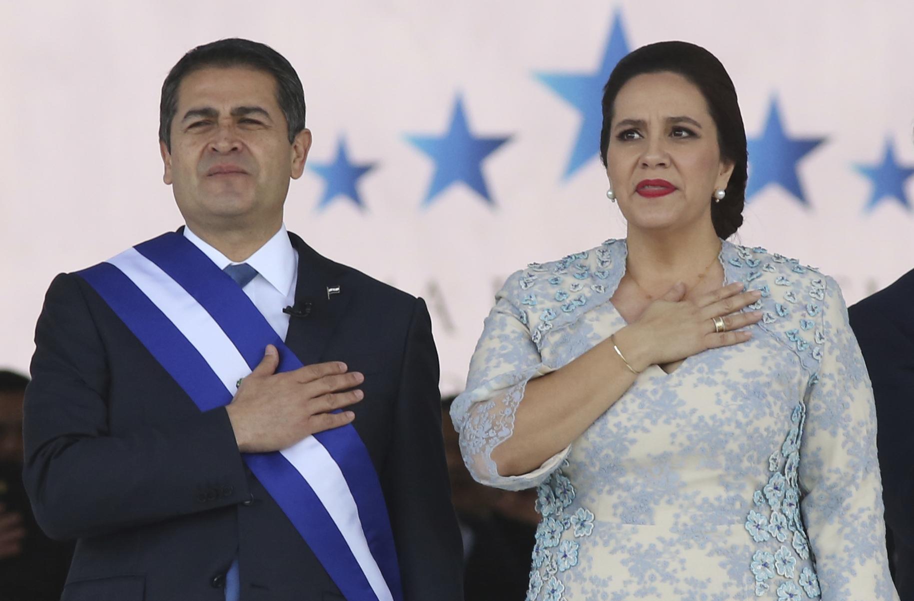 Juan Orlando Hernandez, Ana Garcia, Mauricio Oliva