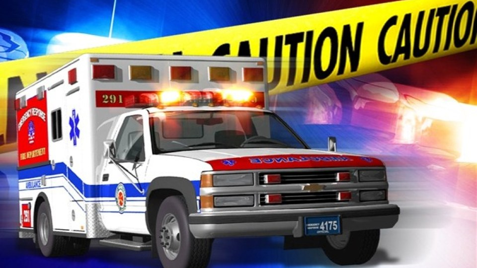 1 person transported to UHC following a single-vehicle accident
