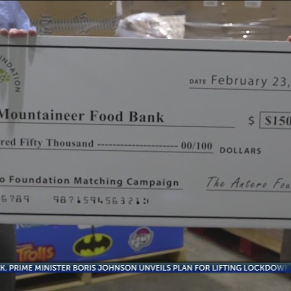 Antero presents check for $150,000 to Mountaineer Food Bank